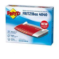 AVM FRITZ!Box 4040 WLAN Router (für Anschluss an Kabel-/DSL-/Glasfasermodem, Dual-WLAN AC + N, 866 MBit/s (5 GHz) und 400 MBit/s (2,4 GHz), 4 x Gigabit-LAN, 1 x USB 3.0, 1 x USB 2.0, Mediaserver)