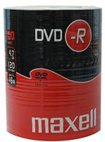 Maxell DVD-R 4.7GB 100 Pack, Spindel