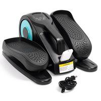 MECO Beintrainer Pedaltrainer Kniebeugentrainer Ellipsentrainer Mini-Heimtrainer mit Display-Monitor für Muskelaufbau, Ausdauertraining