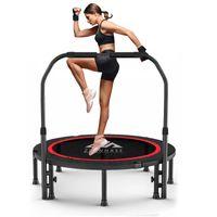 Zehnhase Trampolin Indoor Fitness Jumping mit Haltegriff klappbar Ø101 cm