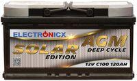 Electronicx Solar Edition Batterie AGM 120 AH 12V Solar Versorgung Solarbatterie