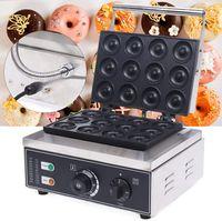 Kommerzielle Donutmaker 5cm Donut Baker Maker Maschine Antihaft 12 Stück Donut-Maker 1500KW 220V