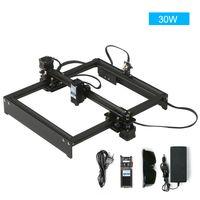30W Lasergravurmaschine Offline-Steuerung Desktop DIY Lasergravur Cutter Laser Logo Mark Drucker Drucker Arbeitsbereich 280 * 230 mm EU-Stecker