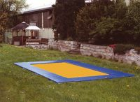 Rahmenpolster-Ganzabdeckung, Mini, Blau
