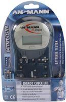 ANSMANN Energy Check LCD Akkutester Teststation Kapazitätsanzeige Batterietester