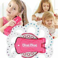Melario Blingbling Diamond Styler Kit, Spielzeug der Bling Bling Diamond Collection, Glam Styling Tool mit 180 Edelsteinen für Kinder Mädchen Damen Damen Make-up