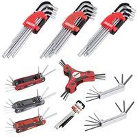 KREATOR extra lang Torx-Schlüssel-Set 9-teilig Chrom-Vanadium-Stahl + Halterung - KRT408303