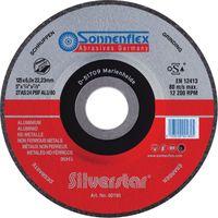 SONNENFLEX Silverstar Alu Schruppscheibe Schleifscheibe VPE 10 Stück Größe:Ø 125 x 6.0 x 22.23 mm