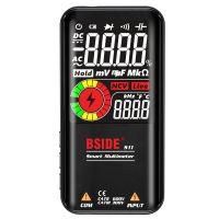 BSIDE S11 Intelligent 9999 Zaehlt Multimeter Digitales LCD-Display Wiederaufladbares Universalmessgeraet AC / DC-Voltmeter Ohmmeter Testwiderstand Kapazitaet Frequenz Diode Durchgang NCV-Live-Leitung mit Blitzlicht Daten halten