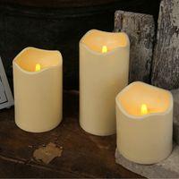 Best Season LED-Kerze aus Kunststoff Lichtsensor, ca.23 x 10 cm, Batterie, 068-25