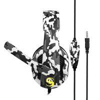 KUBITE T-173 3,5-mm-Over-Ear-kabelgebundener Gaming-Kopfhörer Musik-Headset Geräuschunterdrückung Kopfhörer mit Mikrofon Mikrofon Stummschaltung Lautstärkeregler für PS4-Smartphones Laptop-Tablet-PC[grau]