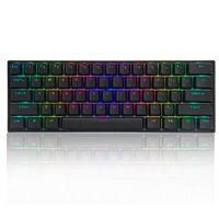 61 Tasten Mechanische Gaming Tastatur LED Beleuchtung Gateron Gamer PC Keyboard Schwarz, Braun Switch
