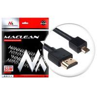 Kabel HDMI - microHDMI v1.4 Audio Video Ethernet vergoldet FullHD SLIM Kabel 3D Full HD Micro Hochgeschwindigkeit 1 Meter