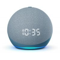 Amazon B085M6N2XM Echo Dot 4. Generation (mit Uhr, Bluetooth, Mikrofon) blaugrau