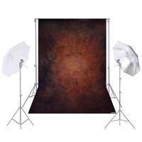Andoer 1,5 * 2,1 mt / 5 * 7ft Fotografie Hintergrund Braun Retro Wand hintergrund fuer DSLR Kamera Foto Studio Video Jaeten Decor