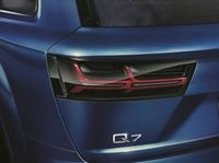 Original Audi BLACKLINE / Schwarz getönte LED Rückleuchten Set für Audi Q7 4M