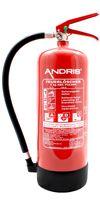 ANDRIS® Marken-Feuerlöscher 6kg ABC Pulverlöscher mit Manometer EN 3 inkl. Wandhalterung & ANDRIS® Prüfnachweis mit Jahresmarke