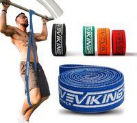 ActiveVikings® Pull-Up Stoff Fitnessband - Perfekt für Muskelaufbau und Crossfit (1 Fitnessband - Blau - Heavy)