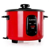 Klarstein Osaka 1.0 Rubin Red Edition - Reiskocher , elektrischer Reiskochtopf , 1 Liter , 400 Watt , Warmhaltefunktion , Einsatzwanne , antihaftbeschichtet , Ein-Knopf-Bedienung , rot
