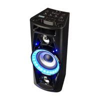 "auna Ultra Sonic Pulse V6-40, Party Lautsprecher, 5,5"" Tieftöner, 2 x 1,7"" Hoch- / Mittel-Töner, 160 W Musikleistung, Bluetooth, 2 x MP3-fähiger USB-Port, AUX, UKW, Mikrofon, Akku, schwarz"