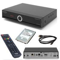 Xoro HRT 8772 TWIN HDD DVB-T2 / DVB-C Receiver (kein SAT) mit 1TB Festplatte für TV Aufnahme und Timeshift (3 Monate FREENET TV) + HDMI Kabel, HDTV, PVR Ready, USB Mediaplayer, HEVC/H.265 (Antennenfernsehen oder Kabelfernsehen)
