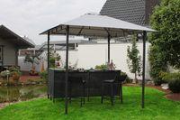 Leco Pavillon mit Theke Festzelt Partyzelt Gartenzelt Gartenmöbel Gartenbar