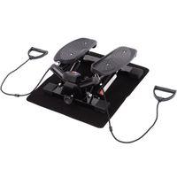 HOMCOM Mini Stepper Sidestepper Fitness Heimtrainer inkl. Trainingsbänder schwarz