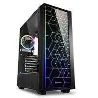 Sharkoon RGB LIT 100 - Midi Tower - PC - Schwarz - ATX,Micro ATX,Mini-ITX - Rot/Grün/Blau - Taschenl