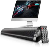 20 W Bluetooth 5.0 TV Soundbar Multifunktions-Wireless-Lautsprecher Stereo-Heimkino-Säule HiFi-Surround-Sound-System USB-Soundbar Wandmontage