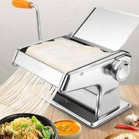 3 in 1 Edelstahl Nudelmaschine Pastamaschine Spagettimaschine Nudelmaker Manuell Maker mit Aufsatz