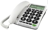 Doro HearPlus 313ci, DECT, Weiß, Base, Wall/Desk, Monochrome