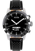 Viita - Connected Watch - Smartwatch - Hybrid HRV Tachymeter silber-schwarz Leder - FT02W2021