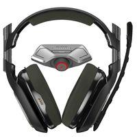 Logitech A40 TR + MixAmp M80, Kopfhörer, Kopfband, Gaming, Schwarz, Olive, Binaural, Verkabelt