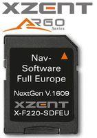 XZENT X-F220-SDFEU Navigationssoftware für X-F220 auf 8 GB Micro SD Karte
