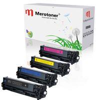 4 Merotoner Toner Kompatibel zu HP Color LaserJet CE320A-CE323A 128A HP CLJ CP1525nw CM-1415fnw MFP