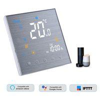 BHT-3000L-GALW Smart Wifi Thermostat Programmierbarer Wasserthermosta Digitaler Temperaturregler LCD Display Touch-Taste Sprachsteuerung Kompatibel mit Amazon Echo / Google-Startseite / Tmall Genie / IFTTT 5A AC 95-240V Weiss