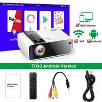HD Mini Projektor 1280x720P LED Android WiFi Video Heimkino Film 3D HDMI Beamer Projektoren