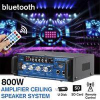 800W Bluetooth Stereo Audio Auto Leistungsverstärker Home HiFi Musik Fernbedienung 12V/220V HiFi-Verstärker