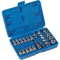 tectake Steckschlüsselsatz 34-tlg. - blau
