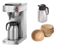 Kaffeemaschine Aurora 20 + 1000 Korbfilter + 2. Isolierkanne