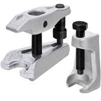 Deuba® Universal 2er Kugelgelenkabzieher Set | geschmiedetes, gehärtetes Werkzeugstahl | stufenlose Höhenverstellung | Spurstangenkopf Abzieher Kugelgelenk Ausdrücker