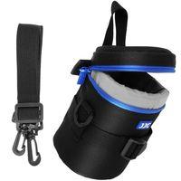 JJC DLP-2II Wasserabweisend Deluxe Objektiv Tasche mit Schultergurt passt Objektiv Größe unten 80 x 152 mm