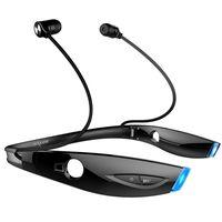 ZEALOT H1 Sports Bluetooth Headset CSR8635 Drahtloser Stereokopfhörer LED faltbarer Nackenbügel-Ohrhörer Sweatproof mit Mikrofon【Schwarz】