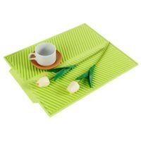 Abtropfmatte Silikon Matte Geschirrmatte Trockenmatte für Küchen hitzebeständig♥