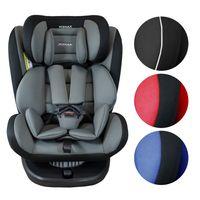 XOMAX 916 Auto Kindersitz mit 360° Drehfunktion und ISOFIX für Kinder von 0 - 36 kg (Klasse 0, I, II, III) Farbe Schwarz/Grau