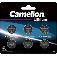 camelion - 6-tlg. Lithium Knopfzellen Set - 2x CR2016 / 2x CR2025 / 2x CR2032 - 3 Volt Lithium