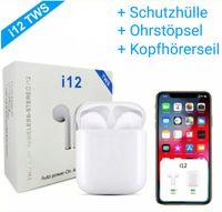 I12 TWS Air Bluetooth 5.0 Kopfhörer integriertem Mikrofon und Schutzhülle für Ladebox pods, kompatibel mit jedem Bluetooth-Gerät