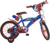 Disney Kinderfahrräder Jungen Spider-Man 16 Zoll 25,4 cm Jungen Felgenbremse Rot/Blau