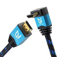 Ultra HDTV Premium 4K HDMI Kabel mit 1x 90°-Winkel 10 Meter