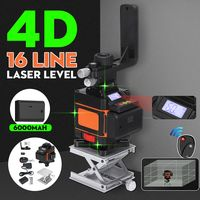 4D 16 Lines Laser Level 360° Selbstnivellierend Kreuzlinienlaser Cross Messwerk